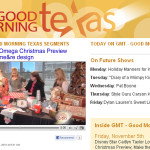chi-omega christmas features me&re design on wfaa's good morning texas!