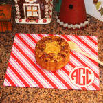 whipping up some holiday cheer with me&re design's festive and handy custom monogrammed cutting board!