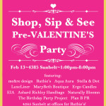 come sip and shop with me&re design, ruthie's rolling cafe and much more! see you tomorrow, february 13!
