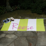 Heavens to Betsy is loving me&re design's super soft and absorbent custom monogrammed beach towels!