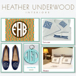 me&re design's personalized key chains make Underwood Interiors' list of monogrammed faves!