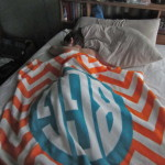 Cuddle up with a monogrammed blanket