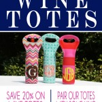 Save 20% on Personalized Wine Totes