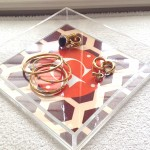 get organized with a monogrammed lucite valet tray!