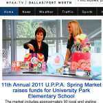 u.p.p.a. gift market showcases me&re design on wfaa news television feature!