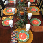 giving thanks me&re style with fabulous custom monogrammed plates and cups!