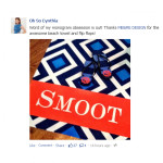 Oh So Cynthia thinks me&re design's custom monogrammed beach towels and flip flops are awesome and you will too!