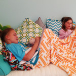 snuggle up with a buddy under a custom monogrammed soft plush blanket from meandredesign.com!