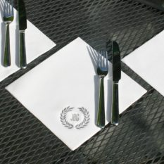 linen finish dinner napkins